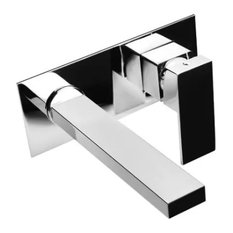 Slim Chrome Wall-Mounted Mixer Tap