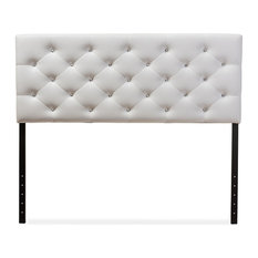 Baxton Studio Viviana Upholstered On Tufted Headboard Queen White Headboards