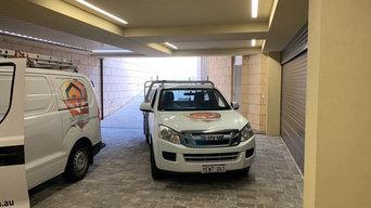roller shutters installed inside your garage