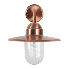 Lilium Outdoor Wall Bracket Light, Copper