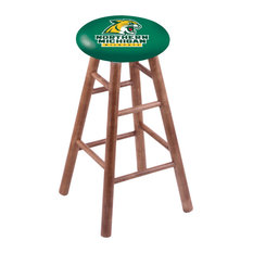 Maple Counter Stool Medium Finish With Northern Michigan Seat 24-inch