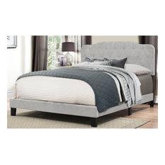 Hillsdale Nicole Upholstered King Panel Bed, Glacier Gray