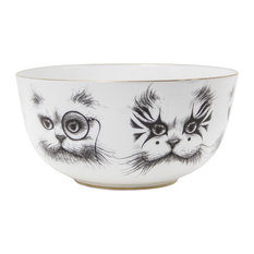 Cat Monocle and Clown Cat Bowl, Small