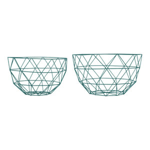 Linea Fruit Bowls, Set of 2, Pine Green