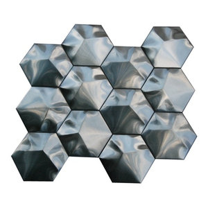 Stainless Steel 3D Interlocking Hexagon Mosaic, 3