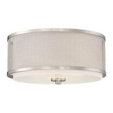 50 most popular flush mount ceiling lights for 2018 houzz trade winds lighting 3 light flush mount brushed nickel flush mount aloadofball Images