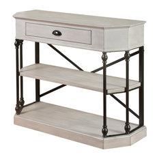 Clipped Corner Console Table Antique White