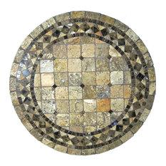 "Vineyard Mosaic Stone Round Coffee Table, 42"""