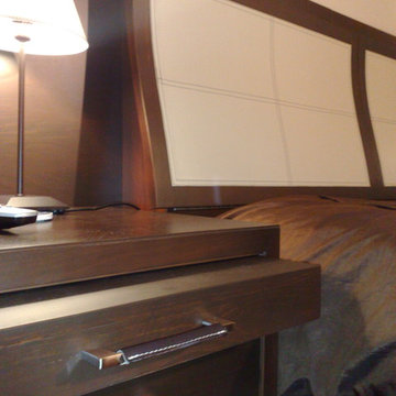 Bed backrest and night stand