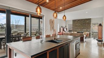 Kitchen and Schist Chimney