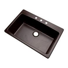 Rockland 3-Hole Kitchen Sink, Espresso