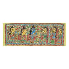 Novica Sita and Ram Marriage Madhubani Painting