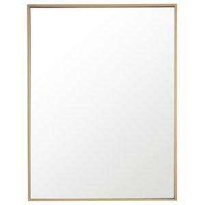 "24""x32"" Rectangle Metal Frame Mirror, Brass"