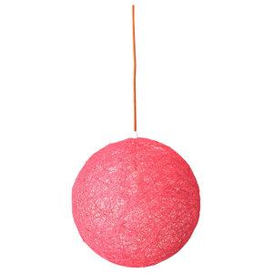 Sphere Modern Pendant Light, Pink, Small