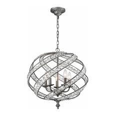 Renaissance 5 Light Chandelier, Weathered Zinc