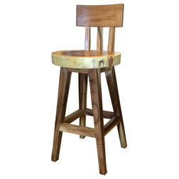 Rustic Bar Stools And Counter Stools by Chic Teak