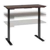 Move 60 Series 48W x 24D Adjustable Desk in Black Walnut - Engineered Wood