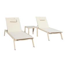 Carina 3-Piece Chaise Lounge Set