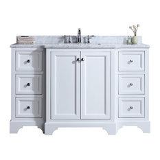 "Jenny 55"" Single Sink Bathroom Vanity Set, White"