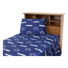 Penn State Nittany Lions Printed Sheet Set, King, Solid