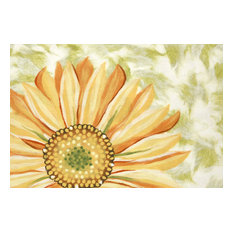 "Liora Manne Illusions Sunflower Indoor/Outdoor Mat Yellow, 23""x59"""