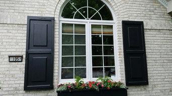 Custom cedar shutters #1