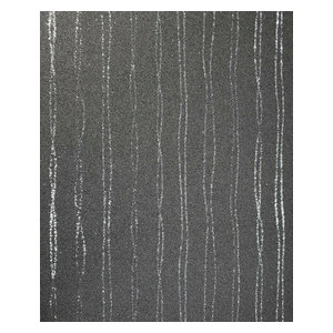 Gray mica wallpaper vermiculite stones glitter, 36 Inc X 23 Ft - Roll