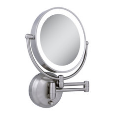 Wall Mounted Makeup Mirrors articulating arm wall mirrors | houzz