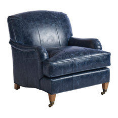 Sydney Leather Chair With Brass Caster