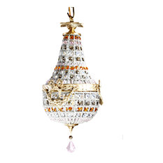 Pink & Golden Crystal Moroccan Chandelier