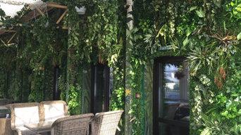 Стена из искусственных растений в Duran Bar
