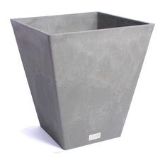 """MOD - Finnley Square Planter Box, Gray, 18"""" - Outdoor Pots and Planters"""