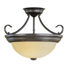 Millennium Lighting 5093Bg 2 Light Semi Flush Bowl