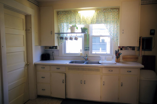 Kitchen cabinets - window trim and upper cabinet paint ...