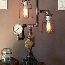 Steampunk Industrial Machine Age Steam Gauge Lighting Lamps
