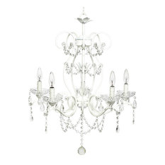 5-Light White Grace Chandelier