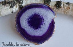 Agate Coasters, Royal Purple Eggplant by Kirahley Kreations