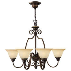 Cello Antique Bronze Chandelier, 6 Lights