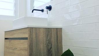 IBIZA | Timber Wood Grain Bathroom Vanity with Stone Benchtop