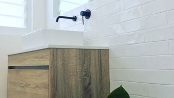 IBIZA | Timber Wood Grain Bathroom Vanity with Stone Benchtop