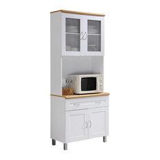 Kitchen Cabinet, White
