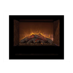 "Home Fire Custom Built Firebox, Red Straight Side Pannels 36"" W"