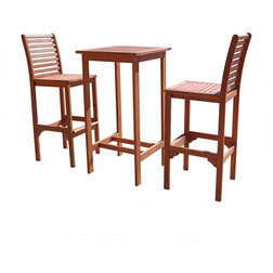 Transitional Outdoor Pub And Bistro Sets by Vifah