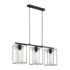Pagazzi Lighting - Black  Eglo Loncino 3-Light Ceiling Light - Kitchen Island Lighting