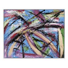 HOWARD ELLIOTT FIESTA Wall Art Cream Canvas