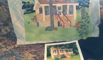 House and Scenic Portraits created using cut fabrics