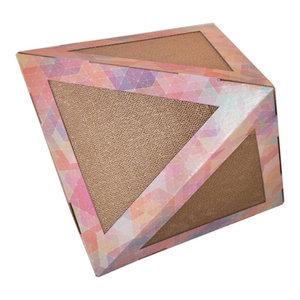 Triangular Ultra Premium Collapsible Puzzle Pet Cat Scratcher House