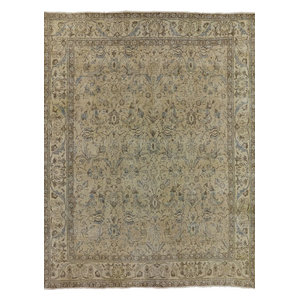 10x12 Persian Veg Dyed Hand Knotted Overdyed Rug P3889 Contemporary Area Rugs By Manhattan Rugs