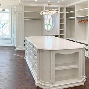 Elegant White Closet in Saddle River, NJ.