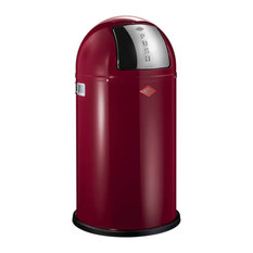 Wesco Pushboy Bin, 50 Litres, Ruby Red